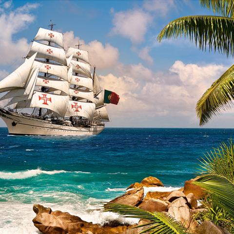 Photo of Caribbean Sailboat Diamond Painting Design
