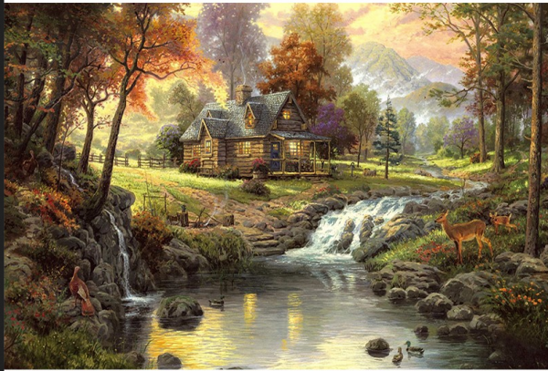Photo of Forest Cabin Diamond Painting Design