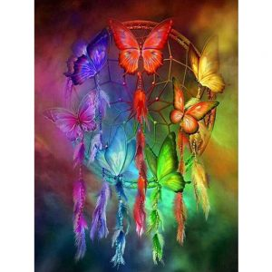 Photo of Butterfly Dream Catcher Diamond Painting Design