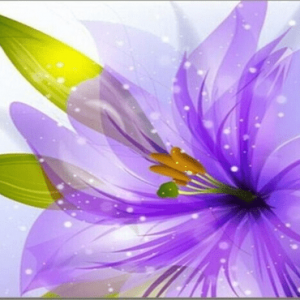 Photo of Purple Flower Diamond Painting Design