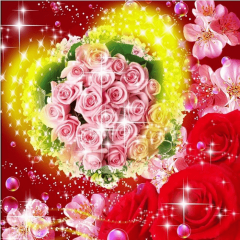 Photo of Rose Heart Diamond Painting Design