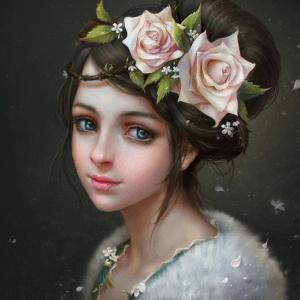 Photo of Rose Portrait Diamond Painting Design