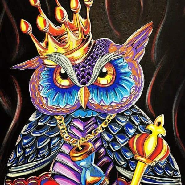 Photo of Owl King Diamond Painting Design