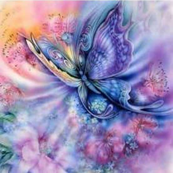 Photo of Pastel Butterfly Diamond Painting Design