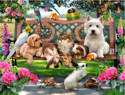 Photo of Puppies and Kittens Diamond Painting Design