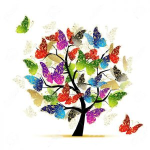 Photo of Butterfly Tree Diamond Painting Design
