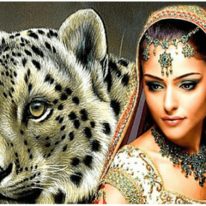 Photo of Leopard Princess Diamond Painting Design