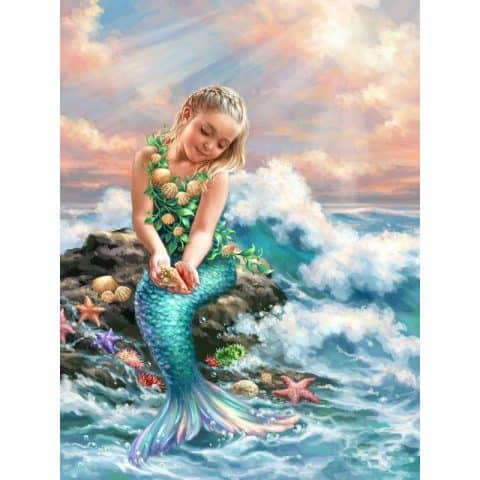 Photo of Mermaid Waves Diamond Painting Design