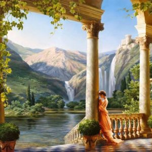 Photo of Classical Waterfall Diamond Painting Design