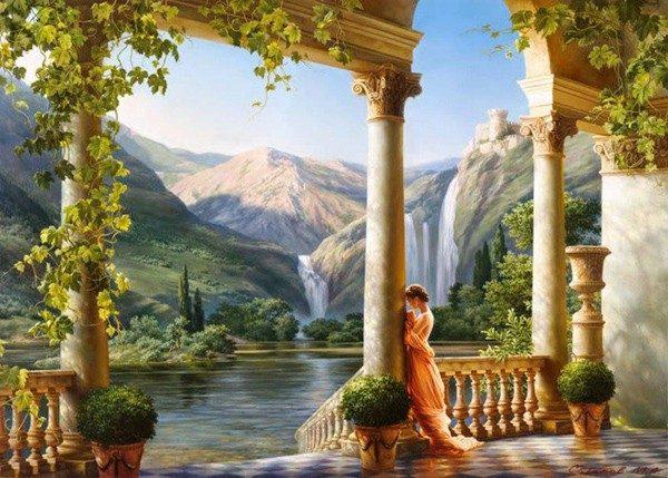 Photo of Classical Waterfall Diamond Painting Design