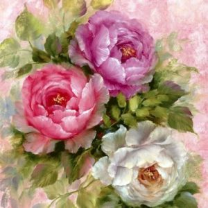 Photo of Peony Trio Diamond Painting Design