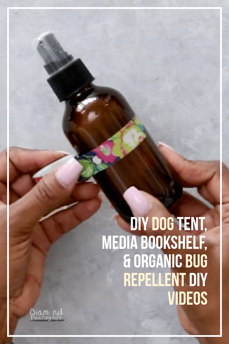 Daily Viral DIY Videos: DIY Dog Tent, Media Bookshelf, & Organic Bug Repellent