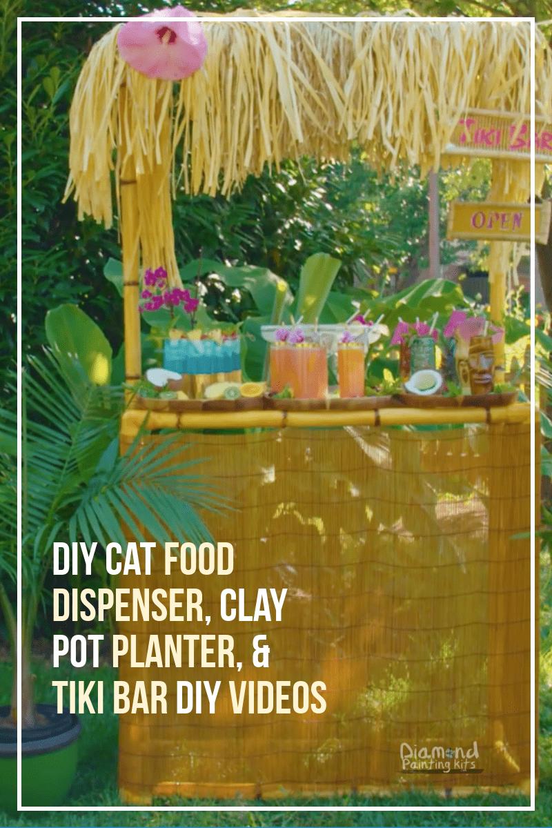 Daily Viral DIY Videos: DIY Cat Food Dispenser, Clay Pot Planter, & Tiki Bar