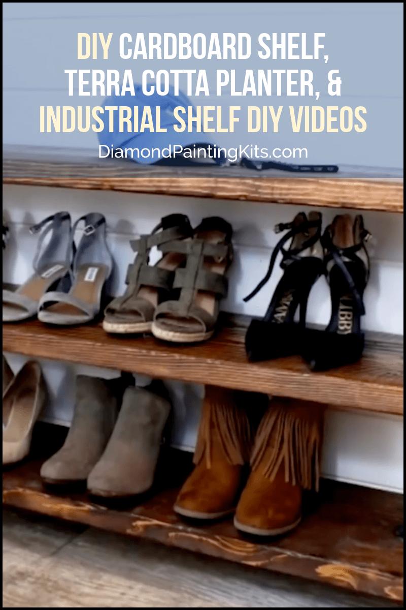 Daily Viral DIY Videos: DIY Cardboard Shelf, Terra Cotta Planter, & Industrial Shelf