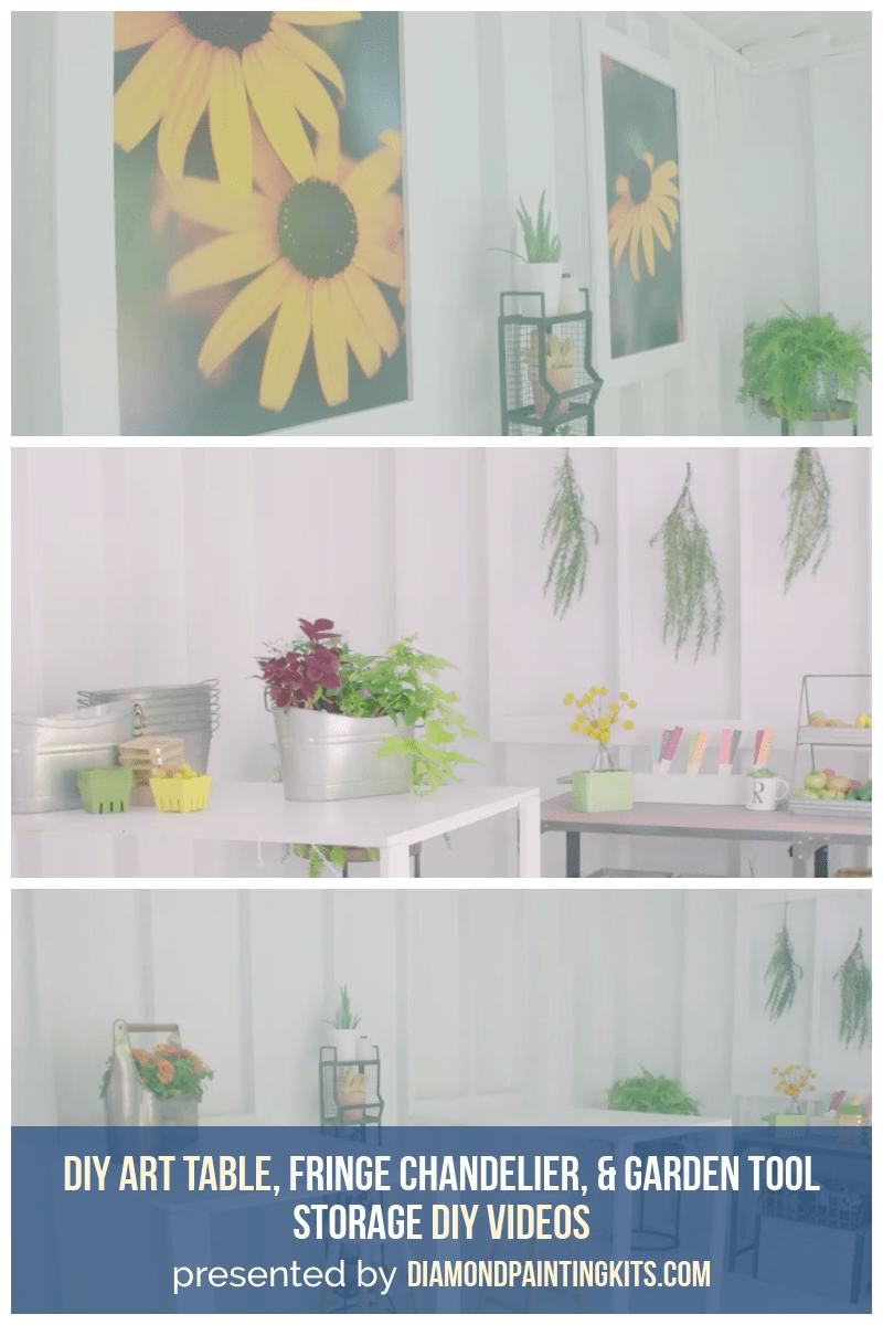 Daily Viral DIY Videos: DIY Art Table, Fringe Chandelier, & Garden Tool Storage