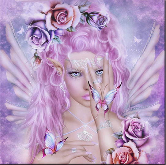 Photo of Fairy Head Shot Diamond Painting Kit Design