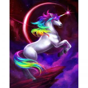 Photo of Unicorn Moon Diamond Painting Kit Design