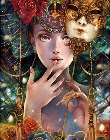 Photo of Carnival Mask Diamond Painting Design