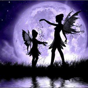 Photo of Fairy Sisters Moonlight Diamond Painting Kit Design