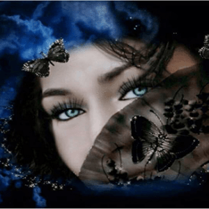 Photo of Mysterious Eyes Diamond Painting Design