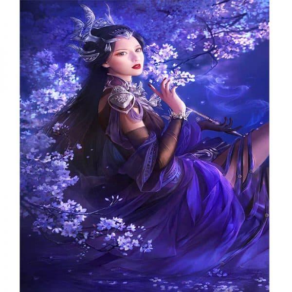 Photo of Violet Purple Dress Diamond Painting Design