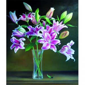 Photo of Elegant Flower Vase Diamond Painting Design