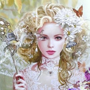 Photo of Flower Masquerade Diamond Painting Kit Design