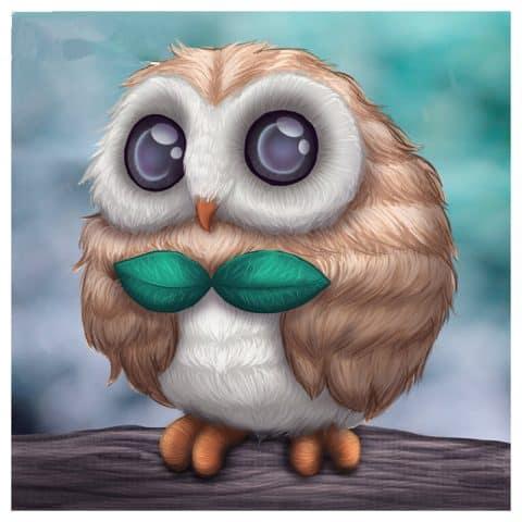 Photo of Owl Eyes Diamond Painting Kit Design
