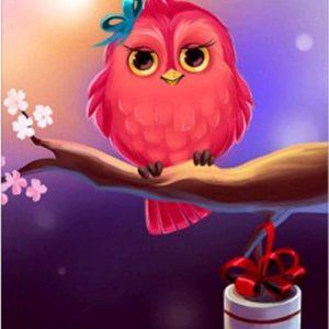 Photo of Bird Present Diamond Painting Design