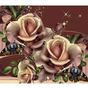 Photo of Copper Roses Diamond Painting Design
