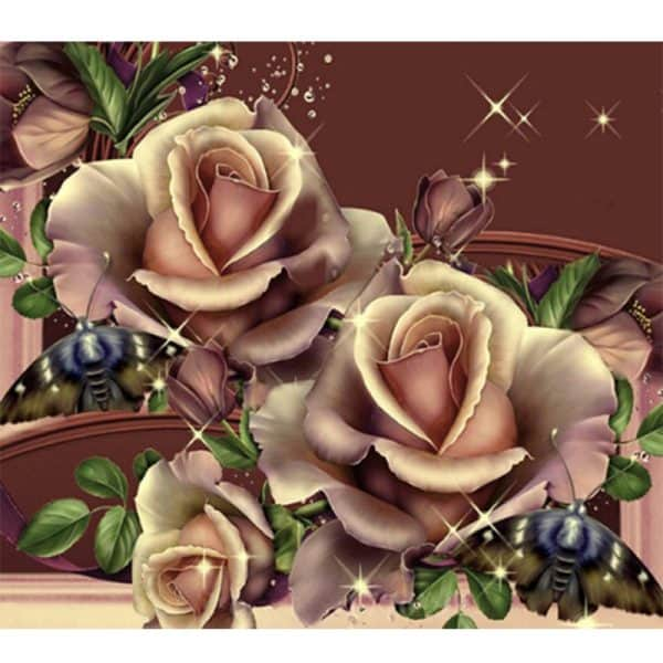 Photo of Copper Roses Diamond Painting Design
