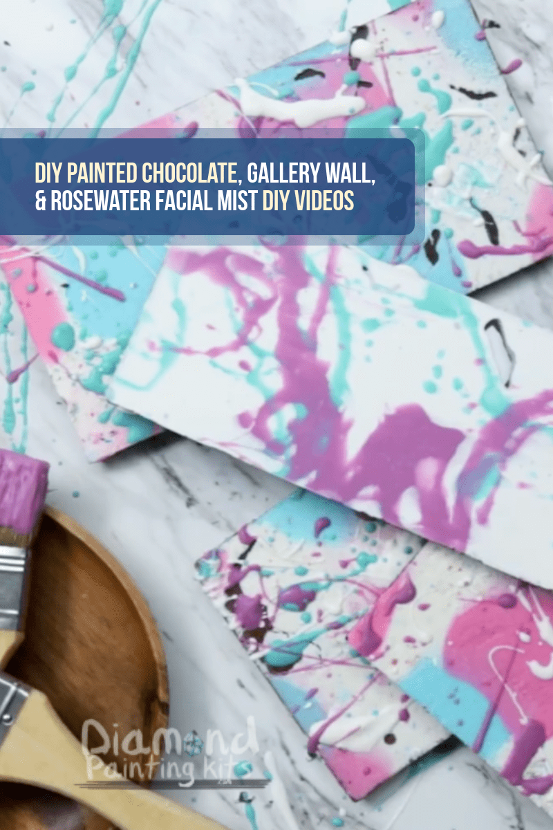 Daily Viral DIY Videos: DIY Painted Chocolate, Gallery Wall, & Rosewater Facial Mist