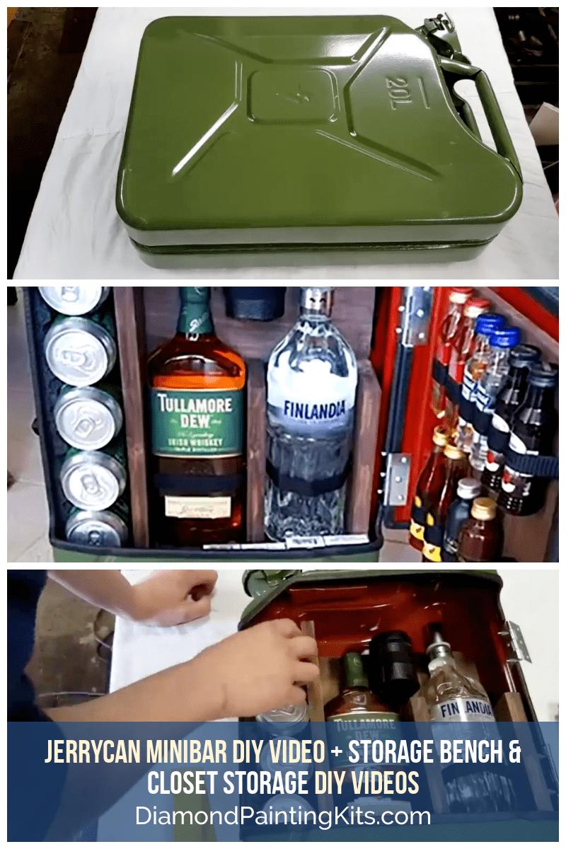 Daily Viral DIY Videos: DIY Jerrycan Minibar, Storage Bench, & Closet Storage