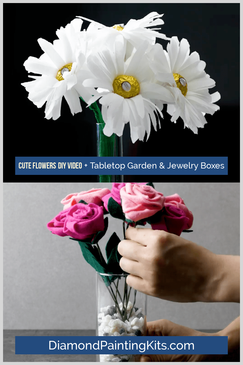 Daily Viral DIY Videos: DIY Cute Flowers, Tabletop Woodland Garden, & Jewelry Boxes