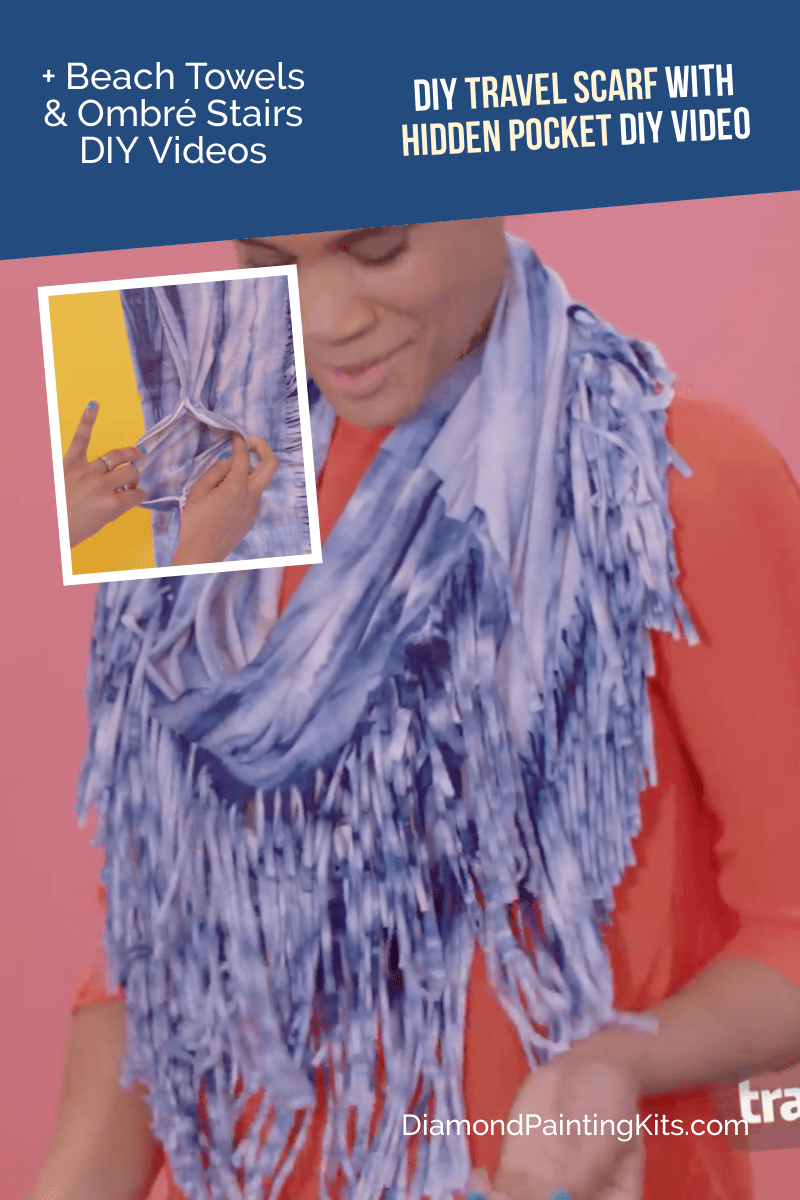 Daily Viral DIY Videos: DIY Beach Towels, Travel Scarf, & Ombré Stairs