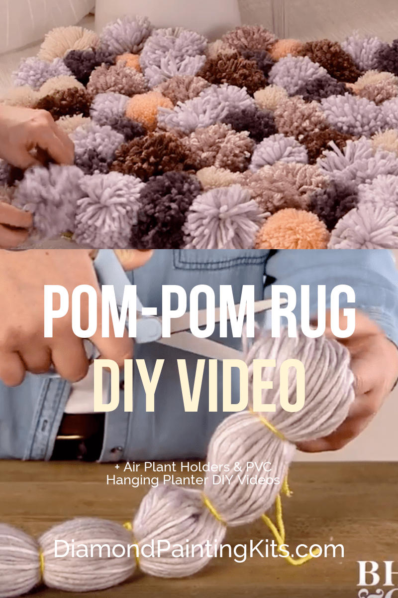 Daily Viral DIY Videos: DIY Pom-Pom Rug, Air Plant Holders, & PVC Hanging Planter