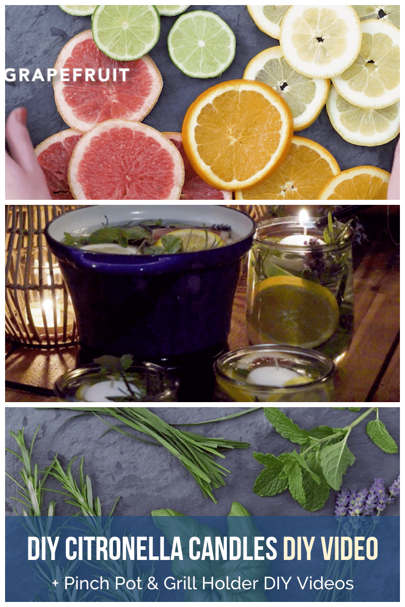 Daily Viral DIY Videos: DIY Pinch Pot, Citronella Candles, & Grilling Tool Holder