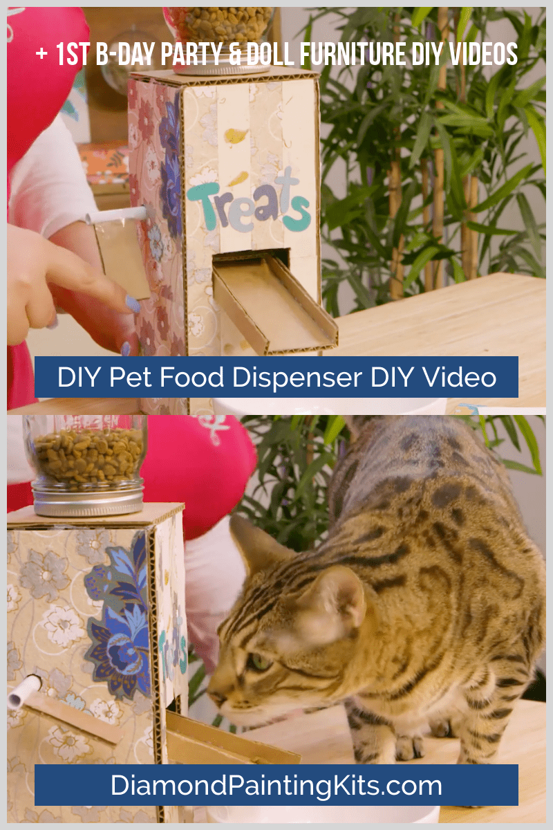 Daily Viral DIY Videos: DIY First Birthday Party, Pet Food Dispenser, & Dollhouse Furniture