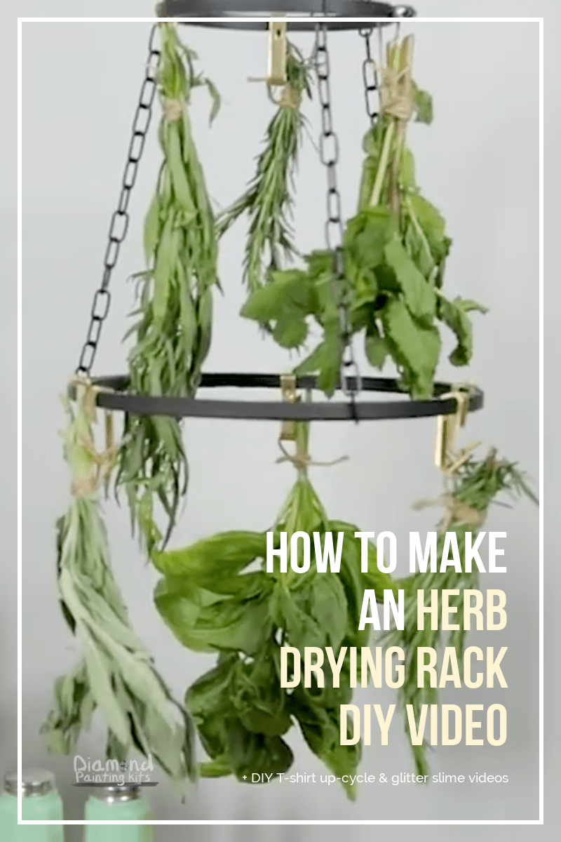 Daily Viral DIY Videos: DIY Shirt Up-Cycle, Herb Drying Rack, & Glitter Slime