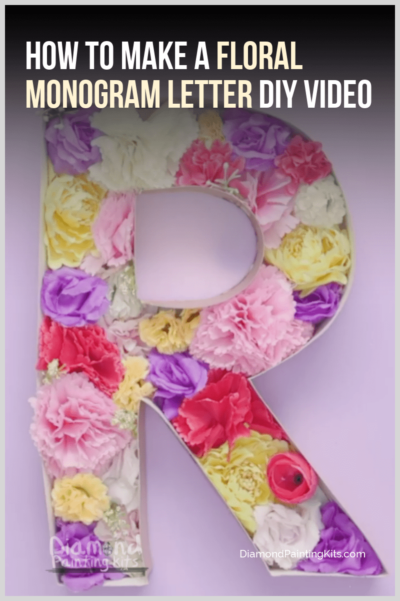 Daily Viral DIY Videos: DIY Floral Monogram Letter, Bath Bombs, & Fanny Pack