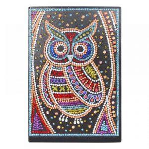 Owl Cover Diamond Painting Journal Kit