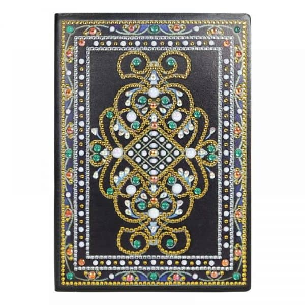 Golden Emerald Cover Diamond Painting Journal Kit