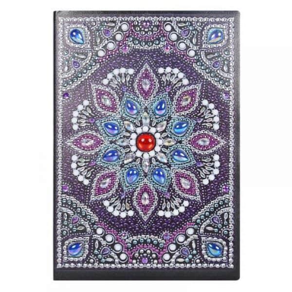 Purple Floral Cover Diamond Painting Journal Kit