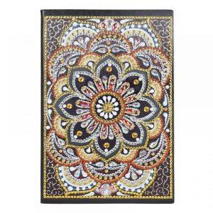 Golden Floral Cover Diamond Painting Journal Kit