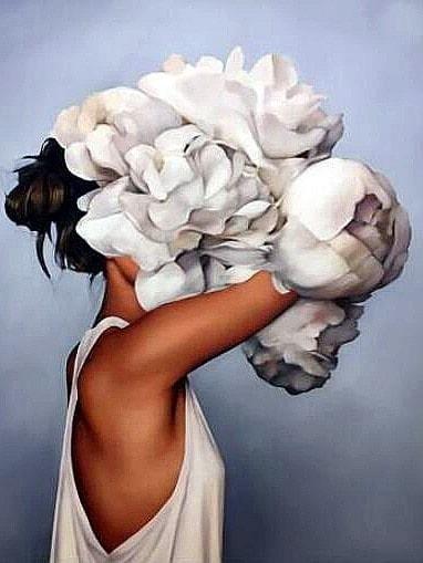 White Flower Hat Side