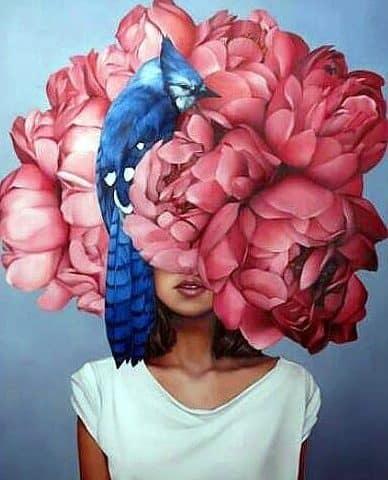 Red Flower Bird Hat